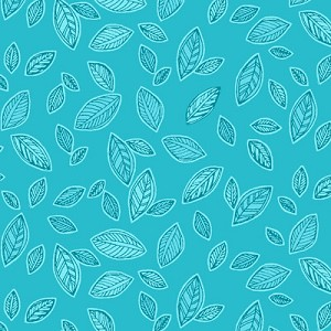 Cotton Candy Flannel F2176 11 Aqua Floral Leaves, Studio E