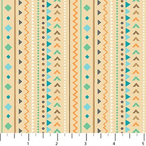 Teepee Time Flannel F31355 12 Tan Dash Stripe, Northcott