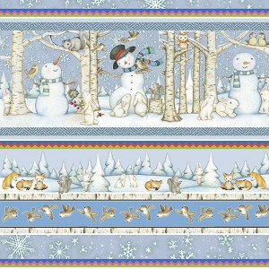 Snow Babies Flannel F9539 11 Border Stripe, Henry Glass