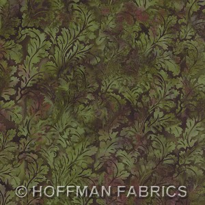 Hoffman Bali Batik L2575 69 Leafy Damask Jungle