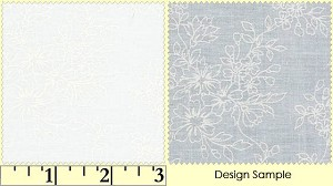 Solitaire White V 211 RW White on Soft White Small Bouquets, Maywood