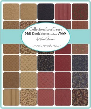 Mill Book 1889 Collections for a Cause Charm Pack, Moda