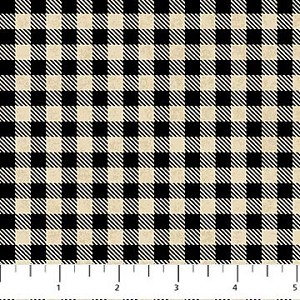Mountain Lodge Flannel F20572 99 Check Black, Northcott
