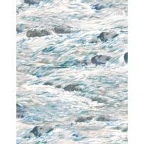 Bear Meadow 94758 149 Water Texture White, Wilmington Prints