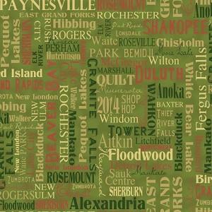 Clothworks Quilt MN 2014 Shop Hop Y1496 24 Cities Green | Hingeley ... : minnesota quilt shop hop - Adamdwight.com