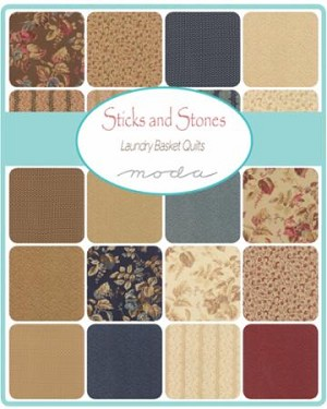 Sticks and Stones Jelly Roll, Laundry Basket Quilts by Moda