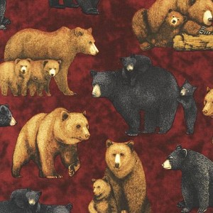 Kaufman Copper Ridge 9153-163 Spice Bear