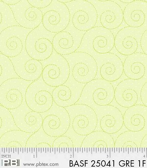 Basically Hugs Flannel 25041 Green Scroll, P and B Textiles