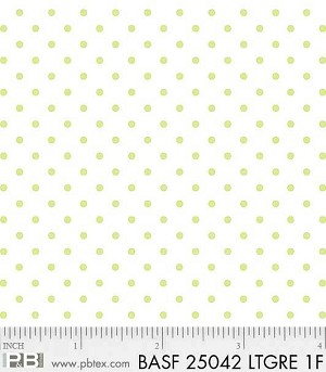 Basically Hugs Flannel 25042 Green Dots, P and B Textiles