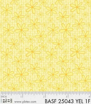 Basically Hugs Flannel 25043 Yellow Daisy, P and B Textiles