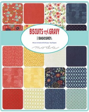 Bisquits and Gravy Jelly Roll, Basic Grey by Moda