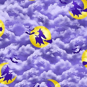 Black Magic 9677 55 Witches Night Sky Lavender, Henry Glass