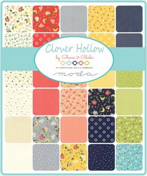 Clover Hollow Charm Pack, Sherri & Chelsi by Moda