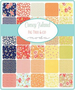 Coney Island Jelly Roll, Fig Tree by Moda