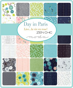 Day in Paris Fat Quarter Bundle, Zen Chic by Moda