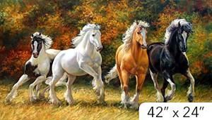 wild and free dp21852 36 running horses digital panel northcott
