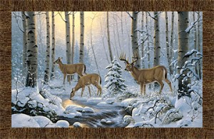 Naturescapes Pine Valley DP22854 10 Digital Deer Panel, Northcott