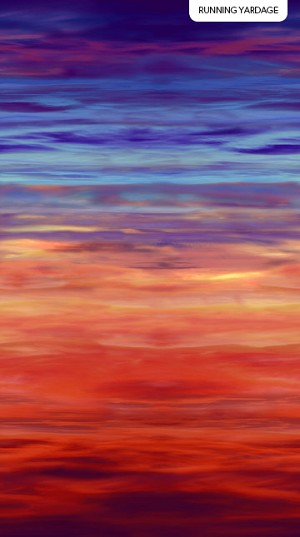 The View From Here DP23769 34 Purple Sky Strata Digital, Northcott