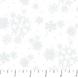 Enchanted Forest Flannel F22305 10 White Snowflakes, Northcott