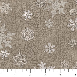 North Ridge Flannel F22827 93 Medium Snowflakes, Northcott