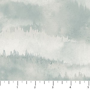 Misty Mountain Flannel F22980 61 Misty Earth Tonal Trees Blue, Northcott