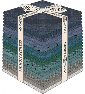 Maywood Flannel Woolies Fat Quarter Bundle Stormy Seas