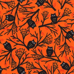 Happy Howloween 19552 13 Hooters Orange, Deb Strain by Moda