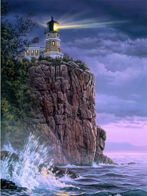 Split Rock Light House Custom Digital Panel DP11284 01, Northcott
