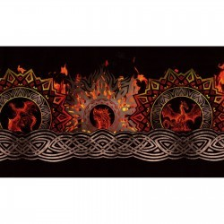 Dragons Digital A3 Red Black Flame Border, In the Beginning