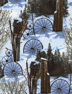 Judy Niemeyer JN C3709 Snow Winter at the Ranch, Timeless Treasures