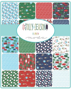 Jolly Season Charm Pack, Abi Hall by Moda
