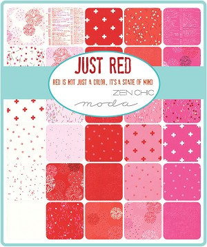 Just Red Charm Pack, Zen Chic by Moda