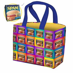 Spam Cotton Duck Can Art Totebag Kit, Michael Miller