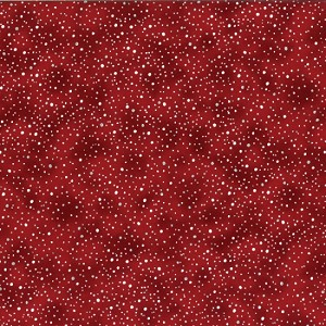 Woodsy Winter L7360 78S Scarlet Silver Metallic Dot Blender, Hoffman