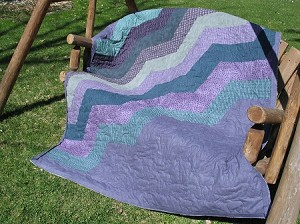 Lavender Way Flannel Quilt Kit, Maywood Studio