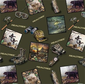 Realtree 9910 Scattered Wildlife, Print Concepts