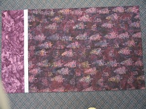 F2107 Purple Tree Batik Pillowcase Kit, Hoffman