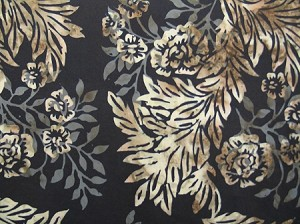 Hoffman Bali Batik N2808 154 Leaf and Flower Teak