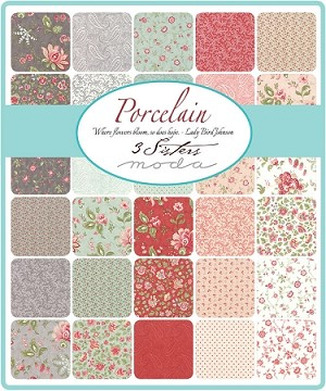 Porcelain Fat Quarter Collection, 3 Sisters by Moda