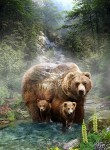 Call of the Wild Q4491 260 Digital Grizzly Bear Panel, Hoffman