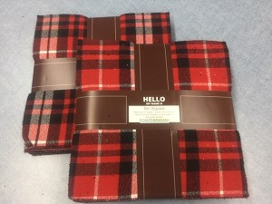 Mammoth Flannel Red Plaids Raggy Cakes Quilt Kit, Robert Kaufman