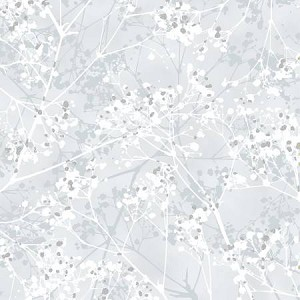 First Snowfall S7716 307S Snow Silver Branches Metallic Blender, Hoffman