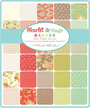 Scarlet Sage Jelly Roll, Fig Tree Quilts by Moda