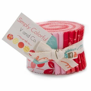 Simply Colorful June Jelly Roll Red, V and Co by Moda