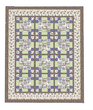 Snow Much Fun Flannel Quilt Kit, Henry Glass