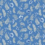 Spring Blue 4133 BB Dark Small Tossed Flowers, P & B Textiles