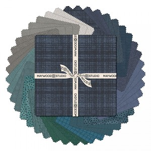 Maywood Flannel Woolies 10 Inch Square Layer Cake Stormy Seas