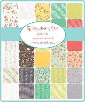 Strawberry Jam Fat Quarter Collection, Corey Yoder by Moda
