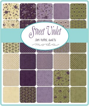 Sweet Violet Fat Quarter Collection, Jan Patek by Moda