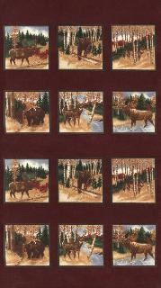 Timber Trail Flannel 6560 12F Burgundy Panel, Holly Taylor by Moda